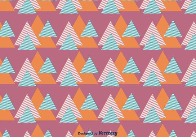 Striped Triangles Vector Pattern - vector gratuit #430795