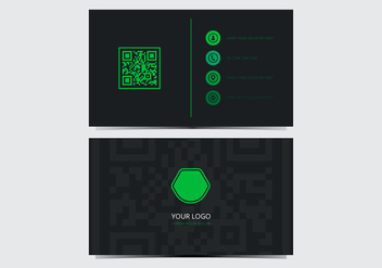 Green Stylish Business Card Template - vector gratuit #430805