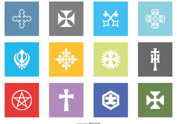 Religious Vector Icon Collection - бесплатный vector #430815