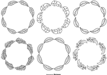 Cute Sketchy Hand Drawn Frame Collection - vector #430845 gratis
