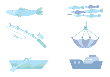 Fishing Ocean Vector - Free vector #430885