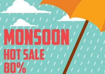 Monsoon Background Vector - Free vector #430915