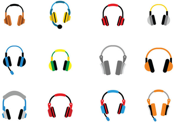 Audio Head Phone Vector Icon - Kostenloses vector #430925