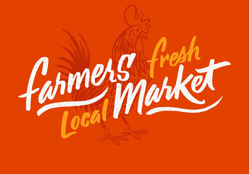 Rooster Farmers Market Design - Free vector #430995