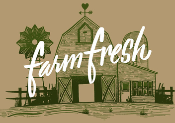 Farm Fresh Barn - vector gratuit #431005