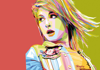 Hayley Williams vector WPAP - Free vector #431025