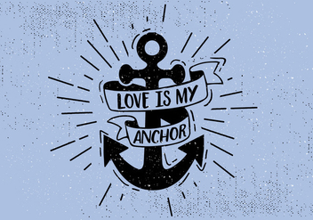 Free Hand Drawn Anchor Background - Kostenloses vector #431035