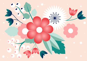 Free Spring Flower Vector Design - Free vector #431045