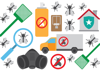 Pest Control Terminate Icons - vector #431085 gratis