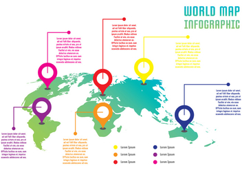World Infographic - vector #431105 gratis