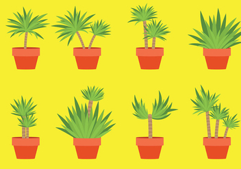 Free Yucca Icons Vector - Free vector #431115