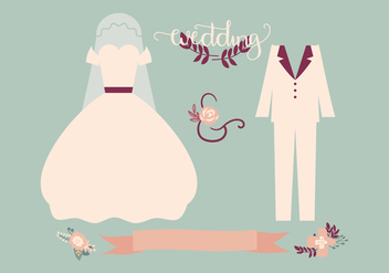 Retro Wedding Vector - Free vector #431135