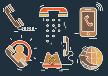 Digital Communication Internet telephone Vector - Free vector #431175