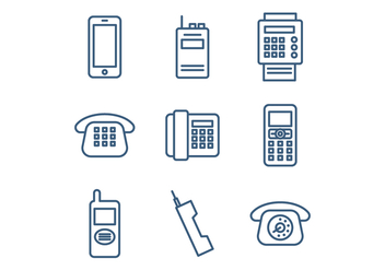 Set Of Telephone Icons - vector gratuit #431185