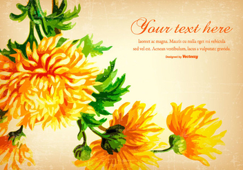 Beautiful Yellow Vintage Flower Background - vector gratuit #431195