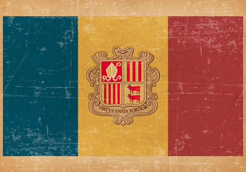 Flag of Andorra on Grunge Style Background - Free vector #431205