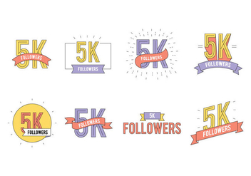5K Followers Vector - Kostenloses vector #431235