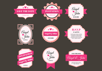 Free Wedding Frames Vector - Free vector #431275