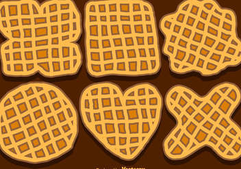 Vector Set Of Hand-Drawn Belgium Waffles - vector #431325 gratis