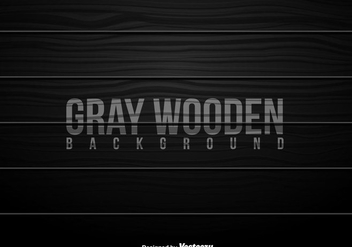 Grey Wooden Planks Vector Background - vector gratuit #431415