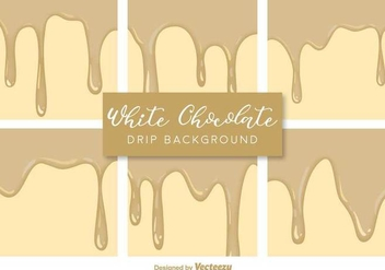 Vector White Chocolate Drips Backgrounds - vector gratuit #431425