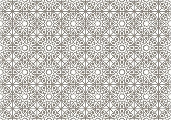 Gray Islamic Vector Pattern - vector gratuit #431465