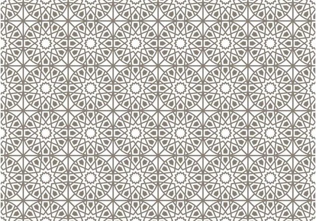 Gray Islamic Vector Pattern   Free Vector #431465