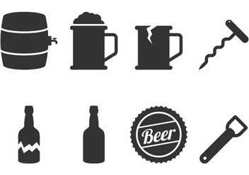 Beer Icon Vectors - Free vector #431555