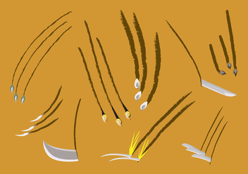 Knives and Scratch Marks Vectors - vector gratuit #431585