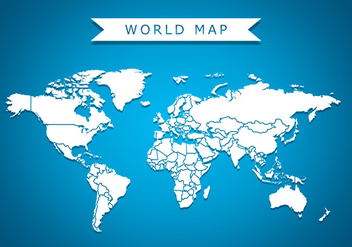 World Map Vector Background - vector #431605 gratis