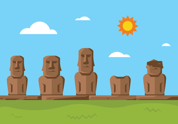 Easter Island Statue - Free vector #431635