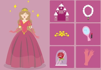 Princesa cartoon element - Free vector #431685