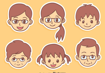 Nice Cartoon Family Vector - Kostenloses vector #431705