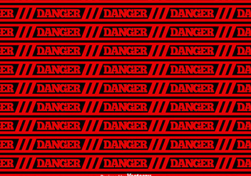 Vector Red Danger Tape Seamless Background - vector gratuit #431775