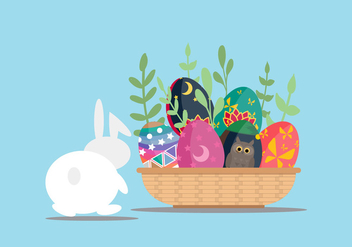 Cute Easter Egg Vector Illustration - vector #431795 gratis