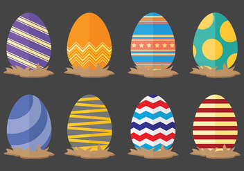 Fun Easter Egg Icons Vector - Free vector #431815