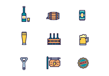 Pack of Vector Beer Icons - vector gratuit #431825