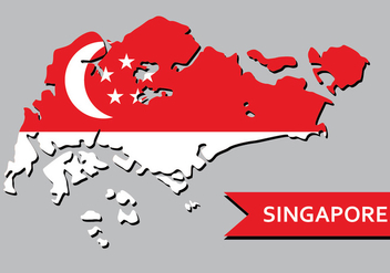 Singapore Map - vector gratuit #431835