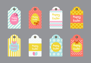 Easter Gift Tag Vector Collections - vector #431845 gratis