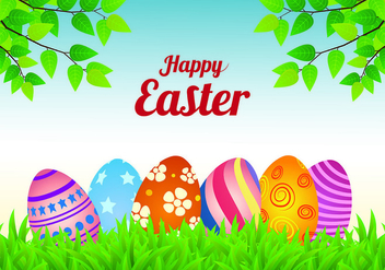 Easter Background Vector - Free vector #431875