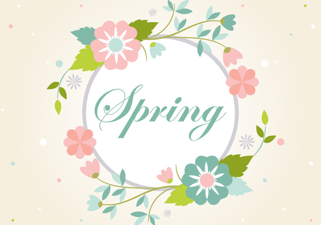 Free Vintage Flowers Wreath Backround - vector gratuit #431895