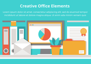 Free Office Vector Flat Design Elements - Free vector #431935