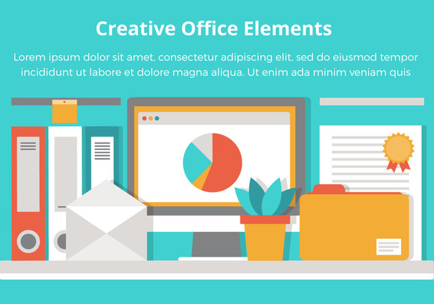 Free Office Vector Flat Design Elements - vector gratuit #431935
