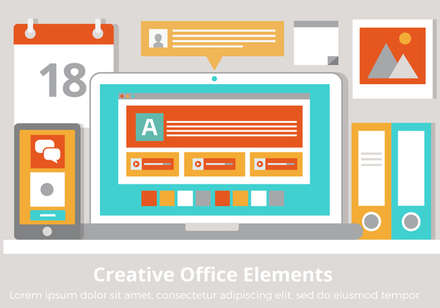 Free Vector Creative Office Elements - vector gratuit #431945