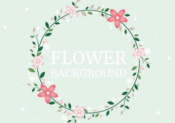 Free Spring Flower Wreath Background - Kostenloses vector #431955