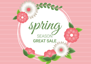 Free Spring Season Decoration Vector Background - Kostenloses vector #431965