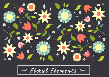 Free Spring Flower Vector Elements - Kostenloses vector #431985