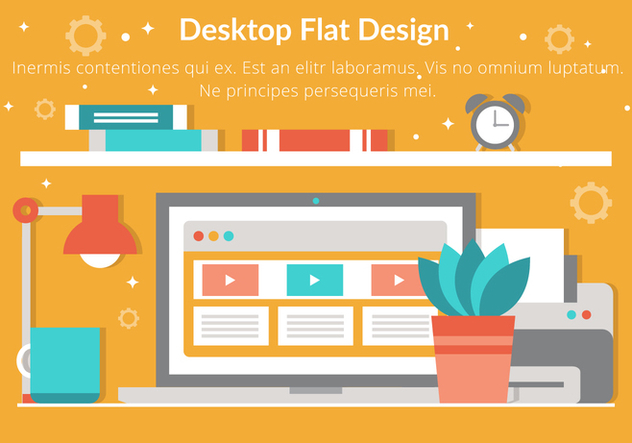 Free Vector Flat Design Desktop Elements - vector gratuit #432005