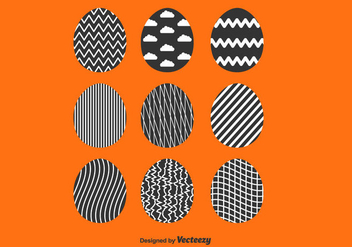 Easter Eggs Vector Set - vector gratuit #432045
