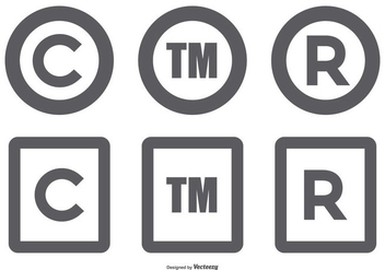 Copyright Symbol Collection - vector #432135 gratis